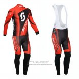 2013 Jersey Scott Long Sleeve Black And Red