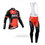 2014 Jersey BMC Long Sleeve Black And Red