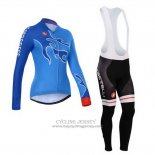 2014 Jersey Women Castelli Long Sleeve Sky Blue