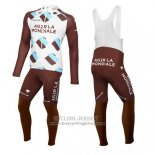 2015 Jersey Ag2rla Long Sleeve Marron