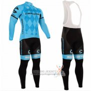 2016 Jersey Cannondale Long Sleeve Blue And Black