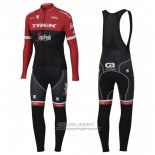 2017 Jersey Trek Segafredo Long Sleeve Red and Black