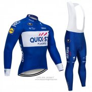 2018 Jersey Quick Step Floors Long Sleeve Blue and White