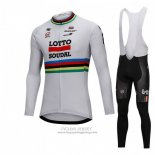 2018 Jersey UCI Mondo Champion Lotto Soudal Long Sleeve White