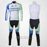 2011 Jersey Liquigas Cannondale Long Sleeve White And Green