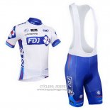 2013 Jersey FDJ White And Sky Blue