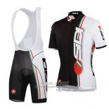 2014 Jersey Castelli Sidi White And Black