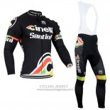 2014 Jersey Cinelli Santini Long Sleeve Black