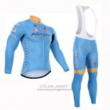 2015 Jersey Astana Long Sleeve Light Blue