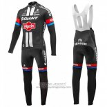 2016 Jersey Giant Alpecin Long Sleeve Black And Red