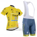 2016 Jersey Tinkoff Lider Yellow And Black