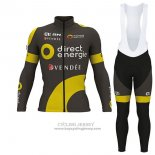 2017 Jersey Direct Energie ML Long Sleeve Vede Militare