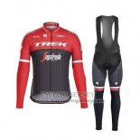 2017 Jersey Trek Segafredo Long Sleeve Black And Red