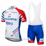 2018 Jersey FDJ White and Blue