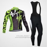 Manica Lunga 2014 Jersey Monton Black And Green
