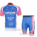 2010 Jersey Lampre Farnese Vini Pink And Light Blue