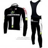 2010 Jersey Merida Long Sleeve Black And Green