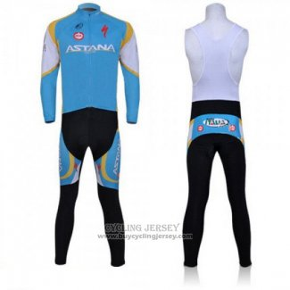 2011 Jersey Astana Long Sleeve Sky Blue