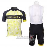 2012 Jersey Livestrong Black And Yellow