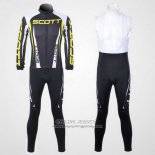 2012 Jersey Scott Long Sleeve Gray And Yellow