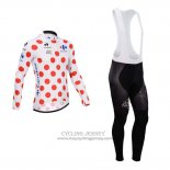 2014 Jersey Tour de France Long Sleeve White And Red
