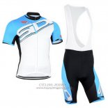 2015 Jersey Castelli SIDI Sky Blue And White