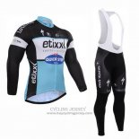 2015 Jersey Etixx Quick Step Long Sleeve Black And White