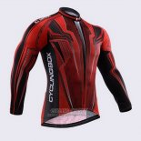 2015 Jersey Fox CyclingBox Long Sleeve Black And Red2