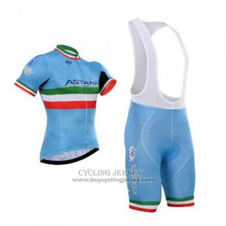 2016 Jersey Astana Italia Blue And Green