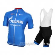 2016 Jersey Gazprom Rusvelo Colnago Blue And White