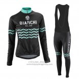2016 Jersey Women Bianchi Long Sleeve Black