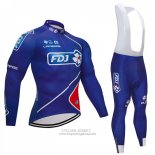 2018 Jersey FDJ Long Sleeve Blue
