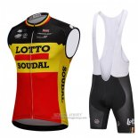 2018 Wind Vest Lotto Soudal Black and Yellow