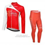 2013 Jersey Cofidis Long Sleeve Red
