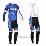 2013 Jersey FDJ Long Sleeve Blue