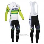 2013 Jersey Orica GreenEDGE Long Sleeve White And Green