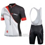 2014 Jersey Castelli Sidi Black And White