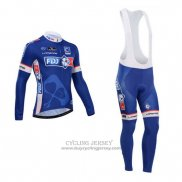 2014 Jersey FDJ Long Sleeve Blue
