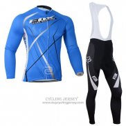 2014 Jersey Fox Long Sleeve Sky Blue