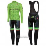 2016 Jersey Cannondale Long Sleeve Black And Green