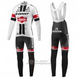 2016 Jersey Giant Alpecin Long Sleeve Black And White