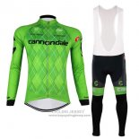 2017 Jersey Cannondale Long Sleeve Green And Black