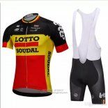 2018 Jersey Lotto Soudal Black and Yellow