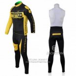 2009 Jersey Livestrong Long Sleeve Yellow And Black
