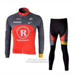 2010 Jersey Radioshack Long Sleeve Orange And Gray