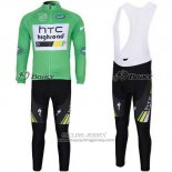 2011 Jersey HTC Highroad Long Sleeve Green And White