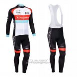 2013 Jersey Radioshack Long Sleeve White And Black