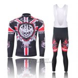 2013 Jersey Rock Racing Long Sleeve Black And Red