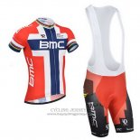 2014 Jersey BMC Champion Norvegia Blue And Red