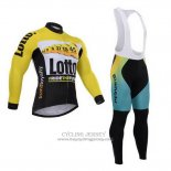 2015 Jersey Lotto NL Jumbo Long Sleeve Black And Yellow